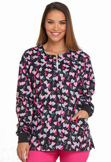 Valentine Prints - Dickies Ladies Snap Front Warm-Up Jacket - DK301-Dickies