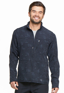 Dickies Mens Zip Front Warm-up Scrub Jacket-