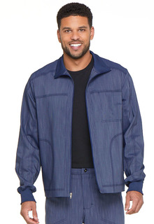 Mens Zip Front Moto Jacket-Dickies