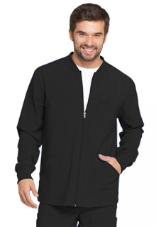 Dickies Medical Mens EDS Essentials Mens Zip Front Warm-Up Jacket-Dickies