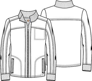 DK335 Mens Zip Front Jacket-Dickies
