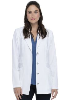 "28"" Notched Lapel Lab Coat-"