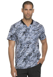 Dickies Mens Rib Knit V-Neck Scrub Top-