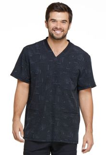 Dickies Mens Rib Knit V-Neck Scrub Top-Dickies