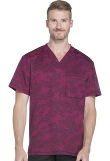 Prints - Dickies Men's 1 Pocket V-Neck Top - DK611-Dickies