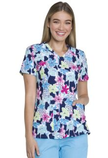 Dickies Medical EDS Breast Cancer Awareness DK616 V-Neck Top-Dickies