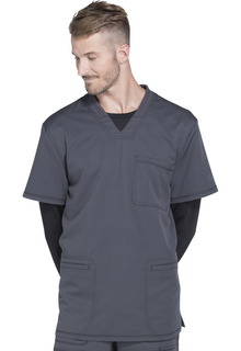 Dynamix Men's 3 Pocket Stretch V-Neck Top - DK640-Dickies