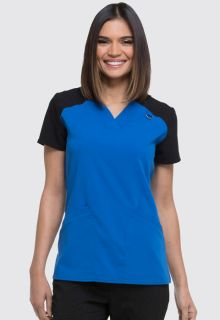 Contrast V-Neck Top-Dickies