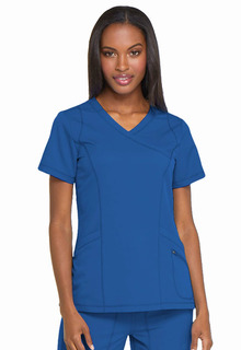 DK660 Mock Wrap Top-Dickies Medical