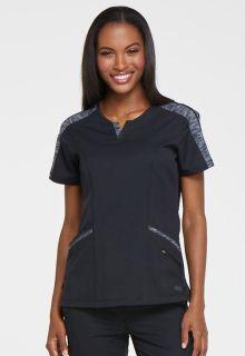 DEAL - Dynamix Ladies Zipper Pocket Tonal Top - DK665-