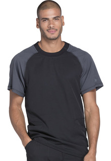 Dynamix Men's Two-Tone Crew Neck Top - DK670-Dickies Medical