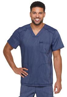 Dickies Medical Mens Advance Two Tone Twist Mens V-Neck 3 Pocket Top-Dickies
