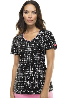 Dickies Xtreme Stretch Prints Women's V-Neck Top