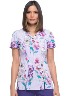Prints - Dickies Ladies 2 Pocket Scrub Top - DK702-Dickies