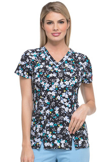 Prints - Dickies Ladies 2 Pocket Scrub Top - DK702-