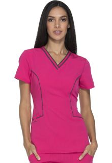 Dickies Medical Xtreme Stretch Contrast Piping V-Neck Top-Dickies
