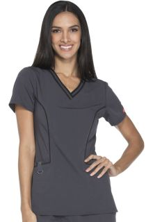 Contrast Piping V-Neck Top-