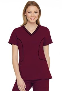 Contrast Piping V-Neck Top-Dickies Medical