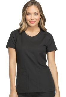Rounded V-Neck Top-