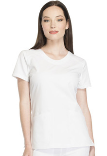 Rounded V-Neck Top-Dickies