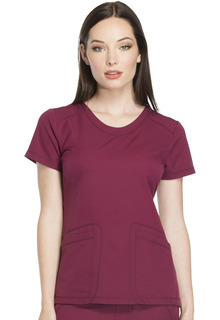 DK720 Rounded V-Neck Top-Dickies
