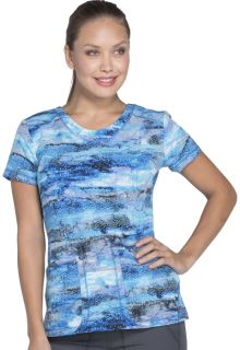 Prints - Dickies Ladies 2 Pocket V-Neck Print Top - DK723-Dickies