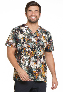 Dickies EDS Men's Printed Stretch V-Neck Scrub Top-DK725-Dickies