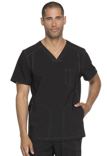Dickies Medical Mens Advance Solid Tonal Twist DK750 Mens V-Neck Top-Dickies