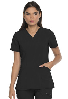 V-Neck Top With Patch Pockets