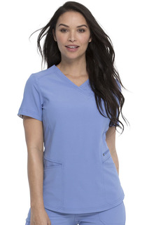 Mock Wrap Top-Dickies Medical
