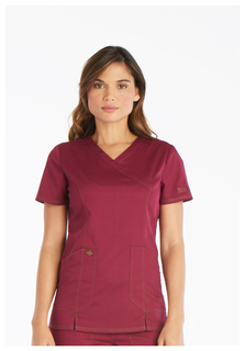 DK804 Mock Wrap Top-Dickies Medical