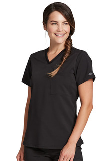 Tuckable V-Neck Top-Dickies Medical