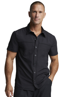 Dickies Medical Dynamix Mens Mens Button Front Collar Shirt-Dickies