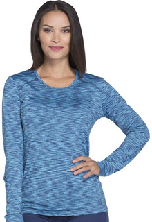 Dynamix Ladies Long Sleeve Knit Tee - Underscrub - DK920-Dickies
