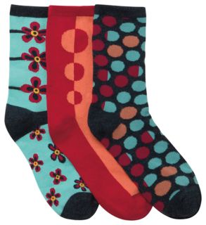 DOTMYFLOWER 1-3pr pack of Crew Socks-Cherokee Medical