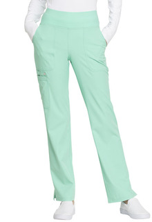 Mid Rise Straight Leg Pull-on Pant-Elle
