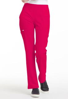 Elle Medical Simply Polished EL130 Mid Rise Straight Leg Pull-on Pant-Elle