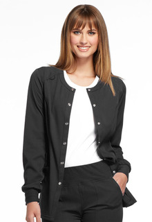 Snap Front Warm-up Jacket-Elle