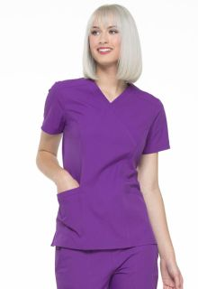 Elle Mock Wrap Scrub Top-