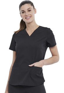 2-Pocket V-Neck Top-