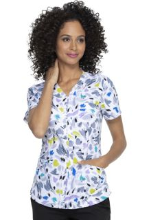 ELLE V-Neck Print Top - A Brush Of Color-Elle