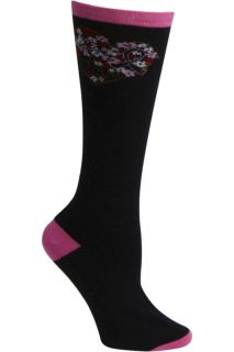 1pr Pink Ribbon Knee High Sock-
