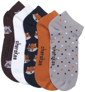 1-5pr Pack of No Show Socks-