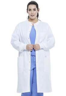 "Unisex 43"" Snap Front Lab Coat-"