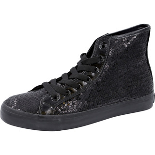 Footwear Sequin Hi Top Lace Up