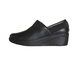 Glide Leather Work Wedge-Infinity Footwear