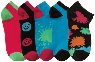 1-5pr pack of No Show Socks