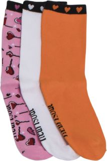 HEARTBREAK 1-3pr pack of Crew Socks-