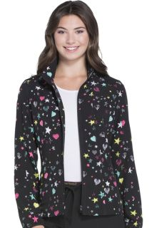 HS301 Zip Front Jacket-HeartSoul