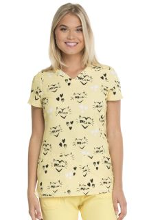 Valentine Heartsoul Prints V-Neck Top - HS614-Heartsoul